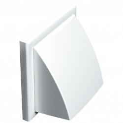 Grila de ventilație PVC cu clapetă antiretur fără flanșă 154x154, albă