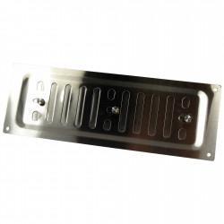 Grila de ventilație din oțel inoxidabil cu control mecanic 260x90 mm