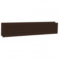 Grila de ventilație dublă PVC pentru ușă 453x90 mm, maro