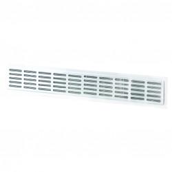 Grila de ventilație metalică pentru ușă 475x80 mm, albă