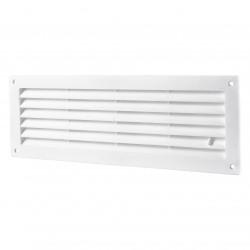 Grila de ventilație PVC cu reglare pentru ușă 368x130 mm, albă