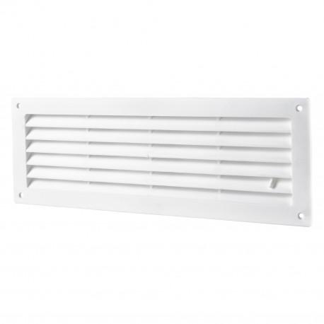 Grila de ventilație PVC cu reglare pentru ușă 462x124 mm, albă