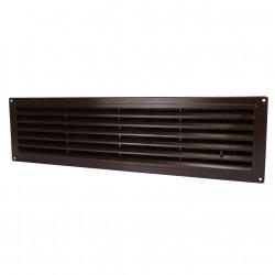 Grila de ventilație PVC cu reglare pentru ușă 462x124 mm, maro