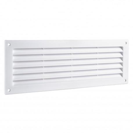 Grila de ventilație PVC pentru ușă 368x130 mm, albă