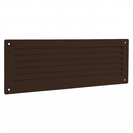 Grila de ventilație PVC pentru ușă 368x130 mm, maro