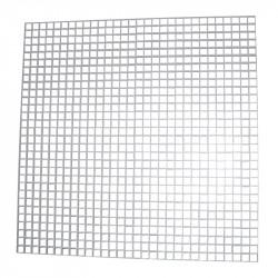 Grilă de ventilație pentru tavane false 600x600 mm, albă