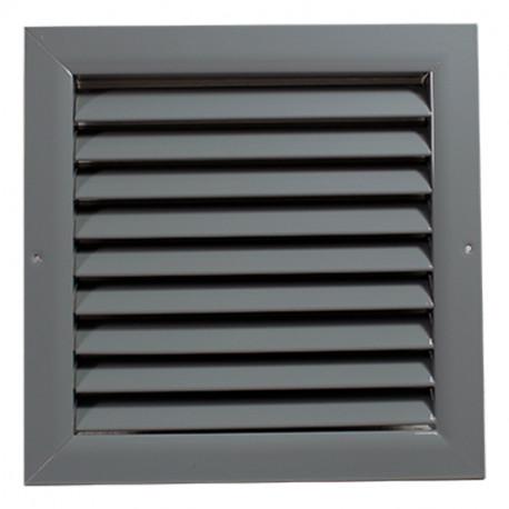 Grilă de ventilație din aluminiu extrudat de înaltă calitate 400x400 mm, gri