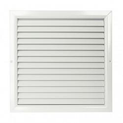 Grilă de ventilație din aluminiu extrudat de înaltă calitate 150x150 mm, albă