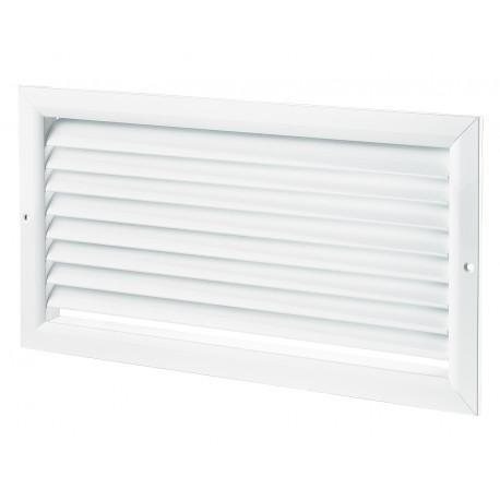 Grilă de ventilație din aluminiu extrudat de înaltă calitate 400x100 mm, albă