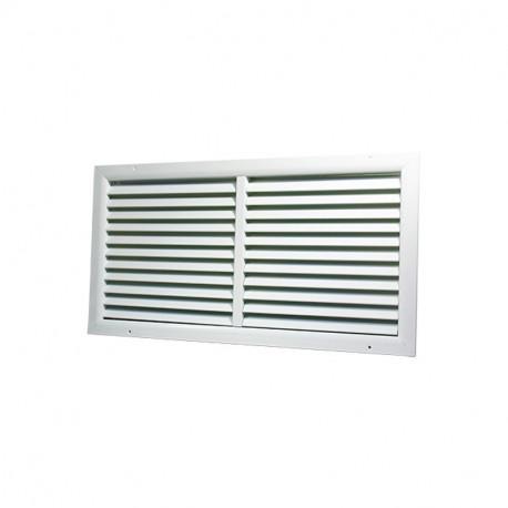 Grilă de ventilație din aluminiu extrudat de înaltă calitate cu armare 500x350 mm, albă