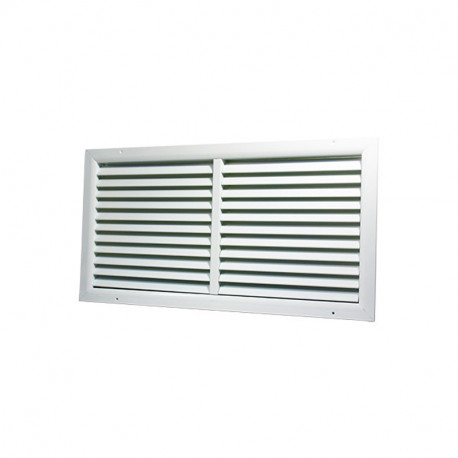 Grilă de ventilație din aluminiu extrudat de înaltă calitate cu armare 500x450 mm, albă