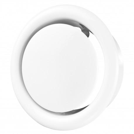Anemostat metalic de evacuare Ø 80 mm, alb