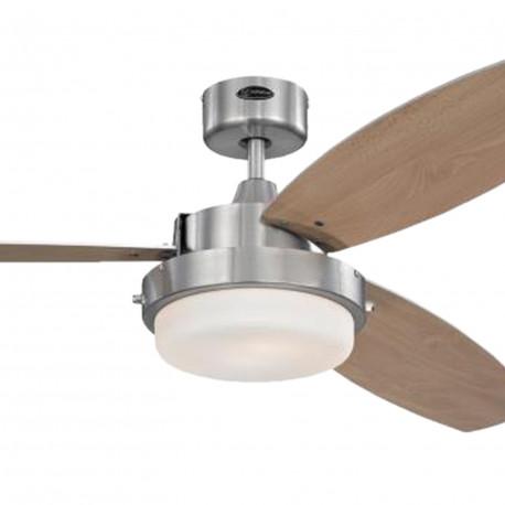 Ventilator de tavan cu lumină și control lanț Westinghouse Alloy 72052, Ø 132 cm