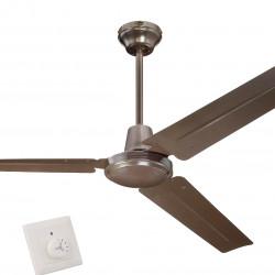 Ventilator de tavan cu comandă de perete Westinghouse Industrial Espresso 78623, Ø 142 cm