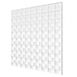 Grila de ventilație pentru tavane false din plastic de înaltă calitate 595x595 mm, alb