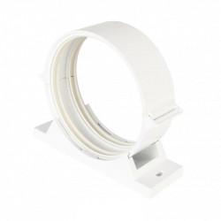 Colier plastic cu cauciuc amortizare pentru conductă circulară Ø 125 mm