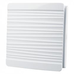 Grilă decorativă din PVC cu plasă și capac cu model dungi 160x160 mm, albă