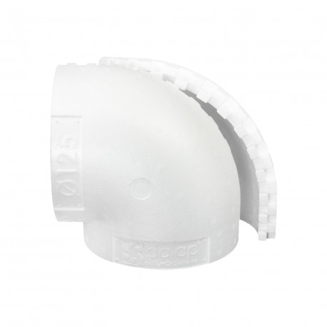 Izolație pentru cot 90° circular plastic de Ø 125 mm