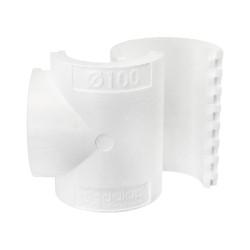 """Izolație pentru ramificație plastică tip """"T"""" de Ø 100 mm"""