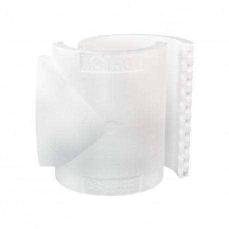 """Izolație pentru ramificație plastică tip """"T"""" de Ø 150 mm"""