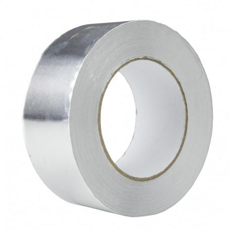 Bandă adezivă din aluminiu până la 100 °C, 50 m