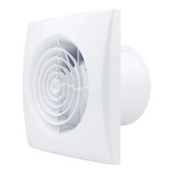 Ventilator de baie silențios cu comutator de timp și clapetă antiretur Ø 100 mm