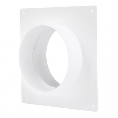 Placă de montare PVC cu flanșă circulară Ø 100 mm