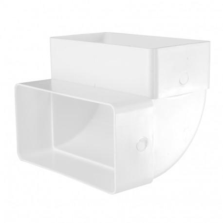 Cot 90° vertical rectangular plastic 110x55 mm