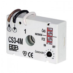 Relee de timp extern sub întrerupător CS3-4M, 8 funcții reglabile