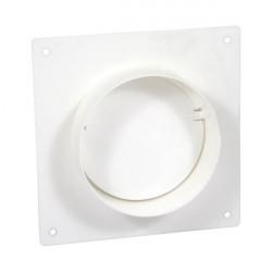 Placă de montare PVC cu flanșă și clapetă antiretur pentru conducte Ø 125 mm