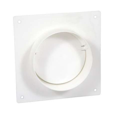 Placă de montare PVC cu flanșă și clapetă antiretur pentru conducte Ø 150 mm