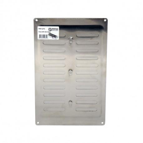 Grila de ventilație din oțel inoxidabil cu control mecanic 260x165 mm