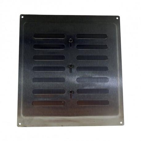 Grila de ventilație din oțel inoxidabil cu control mecanic 260x240 mm