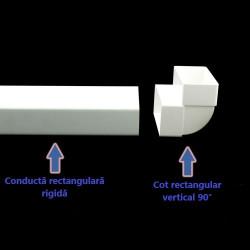 Cot 90° vertical rectangular plastic 220x90 mm