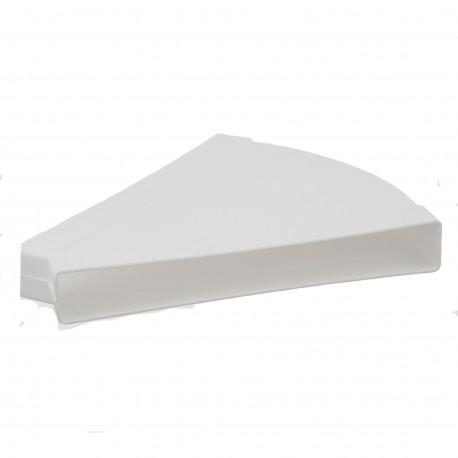 Cot 45° orizontal rectangular plastic 308x29 mm