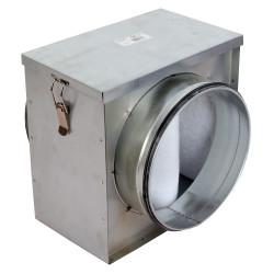 Cutie filtrantă de particule grosiere la conductă Ø 100 mm