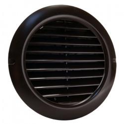Grilă circulară PVC cu flanșă și jaluzele acționate manual Ø 150 mm, maro