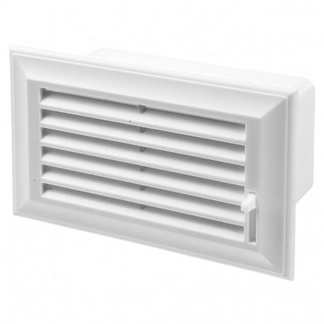 Grilă ventilație PVC cu reglare la conductă rectangulară 204x60 mm