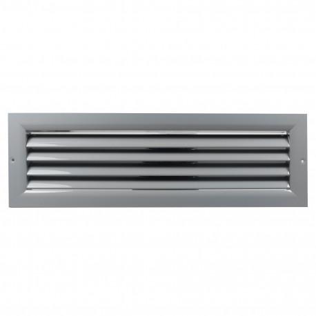 Grilă de ventilație din aluminiu extrudat de înaltă calitate 450x200 mm, gri