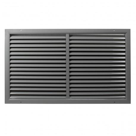 Grilă ventilație din aluminiu extrudat de calitate cu armare 500x100 mm, gri