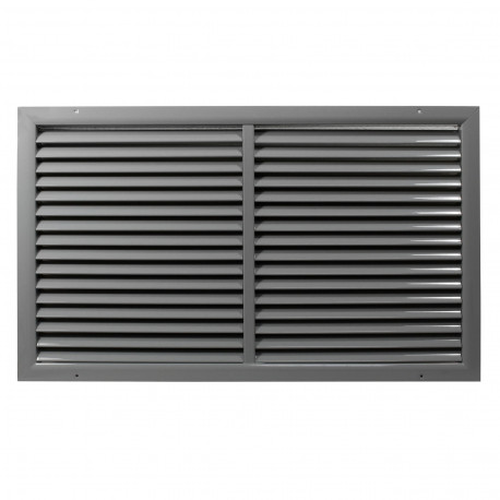 Grilă de ventilație din aluminiu extrudat de înaltă calitate cu armare 500x400 mm, gri
