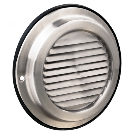 Grilă de ventilație din inox cu jaluzele fixe Ø 100 mm