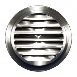 Grilă de ventilație din inox cu flanșă și plasă anti-insecte Ø 100 mm