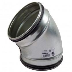 Cot 45° metalic circular cu cauciuc de etanșare Ø 125 mm