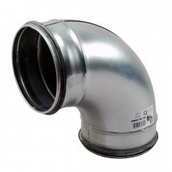 Cot 90° metalic circular cu cauciuc de etanșare Ø 125 mm