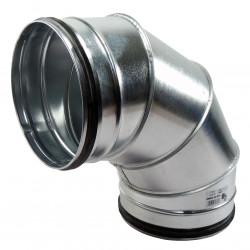 Cot 90° metalic circular cu cauciuc de etanșare Ø 150 mm