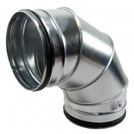 Cot 90° metalic circular cu cauciuc de etanșare Ø 200 mm