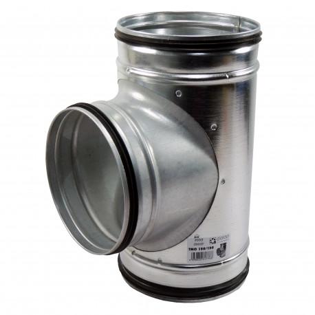 """Ramificație metalică tip """"T"""" cu cauciuc de etanșare, Ø 150 / Ø 150 mm"""
