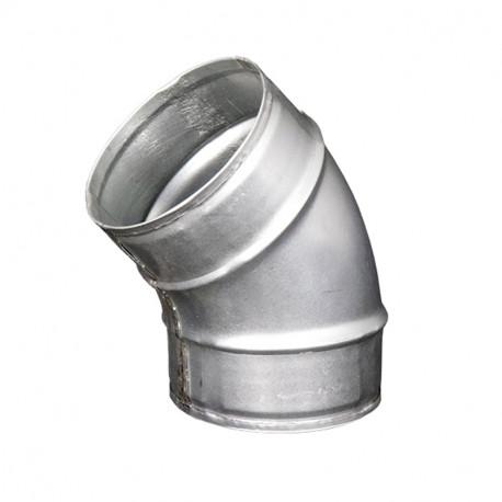 Cot metalic circular 45°, Ø 80 mm
