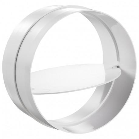 Conector interior circular plastic cu clapetă antiretur Ø 100 mm